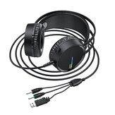 HOCO W100 Portable Wired Gaming Headphone Over-ear Stereo Music Sport Headset with Mic