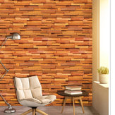 Wood Grain Self-adhesive Wall Paper Waterproof Bedroom Cabinets Dormitory Restaurant Cafe Wall Stickers