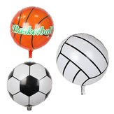 10Pcs 18'' Football Basketball Aluminum Foil Balloon Kids Birthday Party Decor