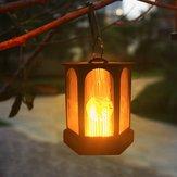 96 LED ad energia solare appeso effetto lanterna lanterna appesa all'aperto impermeabile giardino prato decorazione albero