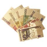 Банкноты евро Банкноты Золотая фольга Валюта Бумажные деньги Коллекция ремесел Украшения