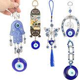 Ferradura turca de olho azul, com decorações de tapeçaria de elefante e fita ☆