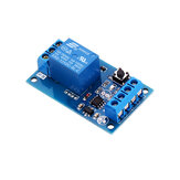 12V DC 10A Bistable Relay Module for Car Modification Switch One-button Start-stop Self-locking