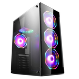 Gaming Case ATX / M-ATX / MINI-ITX PC Computer Case USB2.0 SPCC Transparent Desktop Chassis