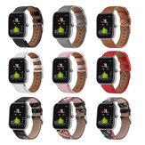 Bakeey 20 mm lederen horlogeband voor Amazfit GTS / Bip / Bip Lite Smart Watch