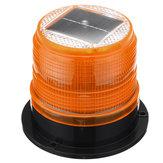 Okrągły dach 12V Solar LED Magnetyczne światło ostrzegawcze Stroboskopowy żółty ostrzegawczy IP65 Wodoodporny