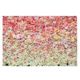 3x5FT 5x7FT Vinyl Pink Yellow Rose Flower Tło Fotografia Tło Studio Prop