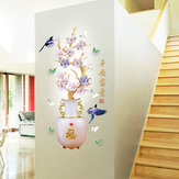 Miico SK9335 Vase Painting Sticker Living Room Bedroom Door Background Decorative Wall Sticker