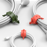 Bcase 4pcs Multi-function Dinosaur Adjustable USB Cable Earphone Wire Bobbin Winder Cable Organizer from Xiaomi Youpin