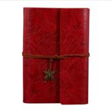 A6 Couro Genuíno Encadernado Notebook Travel Journal Handmade Bloco de Notas Verde Estilo Vintage Solto Folha Jornal Material Escolar Notebook
