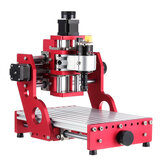 Rojo 1419 3 ejes Mini DIY Enrutador CNC Husillo estándar motor Tallado en madera Máquina de grabado Fresadora Grabadora Carpintería
