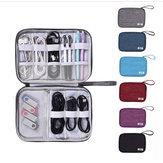 Armazenamento digital multifuncional Bolsa Cabo de viagem Bolsa Organizador de fone de ouvido do carregador USB