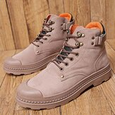 Anti-Collision Toe Cap Leather Outdoor Hiking Ankle Boots