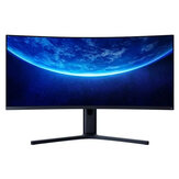 Original XIAOMI Curved Gaming Monitor 34-Inch 21:9 Bring Fish Screen 144Hz High Refresh Rate 1500R Curvature WQHD 3440*1440 Resolution 121% sRGB Wide Color Gamut Free-Sync Technology Display