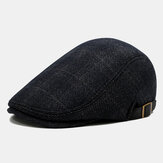 Men's Beret Caps British Plaid Cap