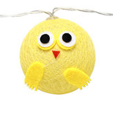 10/15/20 Chicken Cotton Fairy String Light Birthday Party Kids' Bedroom Decorations