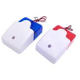 Mini alarme sirène sonore stroboscopique Voyant d'alarme rouge clignotant bleu Voyant filaire 12V 24V 220V 110DB