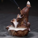 Waterfall Backflow Ceramic Incense Burner Cone Holder Censer Buddhist Home