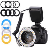 Mamen RF-550D 48pcs Macro LED 3000-15000K Ring Flash Light with 8 Adapter Ring for Canon for Nikon for Pentax for Olympus for Panasonic DSLR Camera