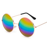 Retro Round Aviator Pilot Gafas Gafas de sol Reflective Color Film