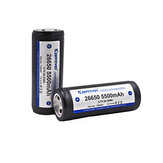 1Pcs KeepPower 5500mAh 3.7V Protected 26650 Li-ion Rechargeable Battery P2655C For Flashlight E cigs Tool