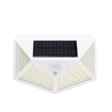 100 LED Solar Light Outdoor IP65 Waterproof Wireless Motion Sensor Lights 270°Wide AngleSecurity Wall Lights with 3 Modes