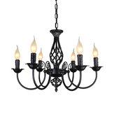 Lampadario a sospensione in ferro battuto stile vintage appeso a lume di candela