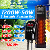 50W-1200W LCD Display Auto Adjustable Submersible Water Heater Aquarium Fish Tank Tropical Heating Rod with Controller