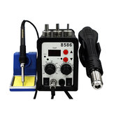 8586 700W 2 in 1 ESD Soldering Station LED Digital Solder Iron Desoldering Station BGA Rework Solder Station Hot Air G-un