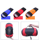 1800g Winter White Duck Down Einzelschlafsack Warmer leichter Outdoor Camping Schlafsack-Orange / Rot / Blau