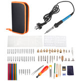 101Pcs Electric Solder Iron Kit DIY Wood Burning Pen Carft Tool Pyrography Tool Set