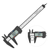 0-150mm Electronic Digital Vernier Caliper Carbon Fiber Large Screen Woodworking Measurement Gauges Tool