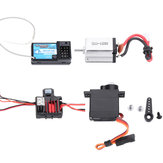Mini RC Car Receiver+Motor+ESC+Servo for URUAV 1/24 4WD 2.4G Crawler Model Vehicle Waterproof RTR Parts