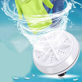 Portable Mini Washing Machine Ultrasonic Turbine Clothes Mini Wash Mashing Personal Laundry Washer Travel