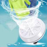 Turbine ultrasonique portative de machine à laver le vêtement mini lavant écrasant le voyage personnel de laveuse