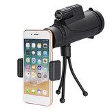 IPRee®40x60 10回FMCコーティングBAK4単眼ウルトラHD防水低光ナイトビジョン電話望遠鏡+電話クリップ+三脚