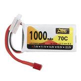 ZOP Power 7.4V 1000mAh 70C 2S Lipo Battery T Plug for SG 1601 1602 RC Car Wltoys V912 V912 V262 V353 Helicopter