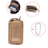 Xmund XD-DY27 Tactical Card Holder Pouch Waterproof Wallet Phone Bag Coin Bag With Carabiner