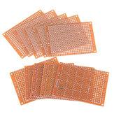 100 pcs Placa PCB Universal 5x7 cm 2.54mm Pitch Hole DIY Protótipo de Papel Painel de Placa de Circuito Impresso Placa de Face Única