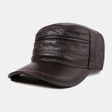 Leder Hut Herren Baseball Cap Ziegenleder Hut Leder Flat Huts