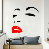 Miico FX1258 Red Lip Beauty Girl Wall Sticker Wall Art Home Decoration Stiker