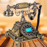 Bronze Retro Vintage Antique Phone Push Button Dial Desk Phone Room Decor Feature Phone