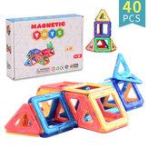 40 шт. Магнитные шт блоки игрушки DIY детские развивающие игрушки чисто магнитные с Коробка упаковка
