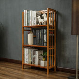 3/4 Tiers Bamboo Bookshelf Shelves Books Magazine Organizer