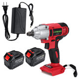 388VF 38800mAh 550NM Electric Cordless Impact Wrench Drill with 2 Batteries DIY Repair Tools Kit