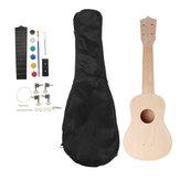 21-calowy lipa ukulele DIY Kit Handwork Wsparcie Malowanie ukulele z akcesoriami
