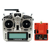 FrSky Taranis X9D Plus 2019 2.4G 24CH ACCESS ACCST D16 Mode2 FCC-Version Transmitter mit R9M 2019 900MHz Long Range Transmitter-Modul