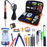 60 W Plug UE 220 V 110 V temperatura ajustável Solda kit de Ferro Com Multímetro Desoldeirng Bomba de Solda Ferramenta Solda Ferramentas