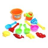 12 PCS Plastic Playa Sand Play Toys Set Intelligence Development Toy para regalo de niños