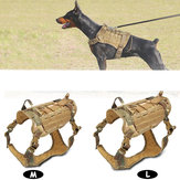 Nylon Dog Tactical Vet Military K9 Resistente all'acqua Harness Trainer Clothing Tactical Pet Clothing-M / L